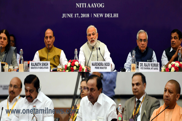 Chief Minister of Tamil Nadu Thiru Edappadi K. Palaniswami at the Fourth Governing Council Meeting of NITI Aayog held on 17th June, 2018 at New Delhi