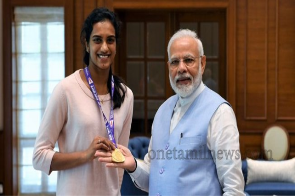 world champion P V Sindhu on Tuesday met Prime Minister Narendra Modi,