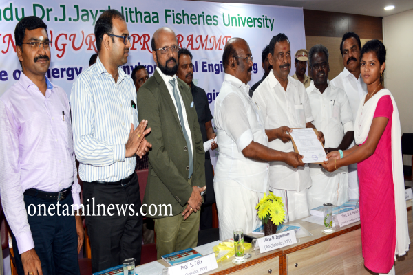 Inauguration Program ;College of Energy and Environmental Engineering and B.Tech. (Energy and Environmental Engineering) Venue: Tamil Nadu Dr.J.Jayalalithaa Fisheries University, Nagapattinam