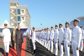 ADDRESS BY BANWARILAL PUROHIT, HON'BLE GOVERNOR  OF TAMIL NADU AT THE ESTABLISHMENT CEREMONY OF NO.16 COAST GUARD DISTRICT HEADQUARTERS (TUTICORIN) AT TUTICORIN ON 22 FEB
