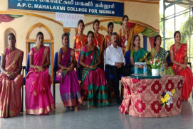 A.P.C. Mahalaxmi College for Women, Thoothukudi UNION INAUGURATION REPORT 2019-2020